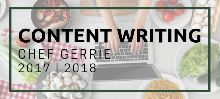 ChefGerrie.com Writing Samples